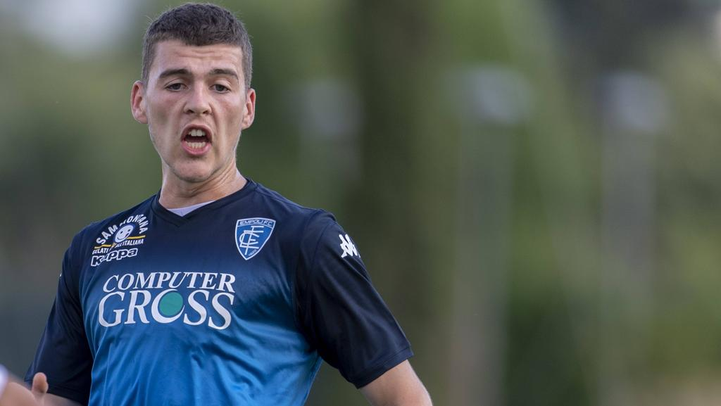 Wechselt auf Leihbasis zum FC Erzgebirge Aue: Jacob Rasmussen (hier 2018 im Trikot des FC Empoli)