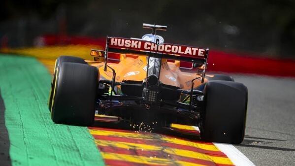 Für McLaren-Pilot Carlos Sainz endete der Rennsonntag in Spa vorzeitig