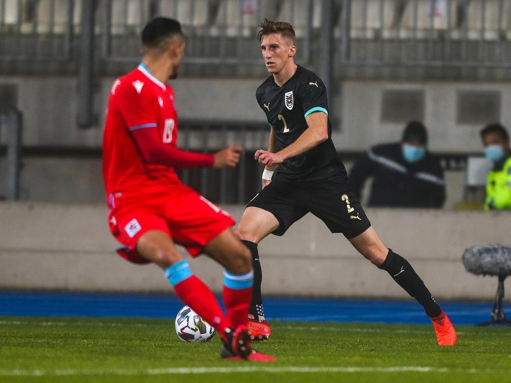 Gernot Trauner traf zum ersten Mal im Nationalteam