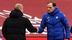 Thomas Tuchel (r.) trifft im Champions-League-Finale auf Pep Guardiola (l.)