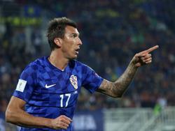 Gegen den Kosovo traf Mario Mandžukić in den ersten 35 Minuten zum Hattrick