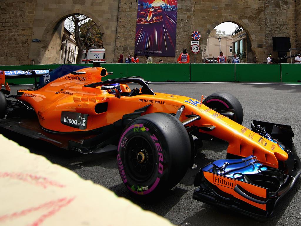 Fernando Alonso ließ sich von Nico Hülkenberg über die lange Gerade ziehen