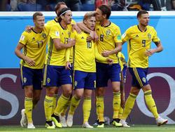 Suecia fue más competitivo a pesar de recibir varias ocasiones en contra. (Foto: Getty)