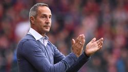 Eintracht Frankfurts neuer Trainer Adi Hütter zeigt sich zufrieden