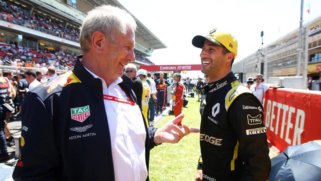 Daniel Ricciardo (r.) hat sein Lachen nach dem Wechsel zu Renault nicht verloren