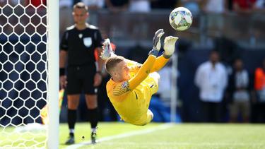 Jordan Pickford hielt den sechsten Elfmeter gegen den Schweizer Josip Drmic