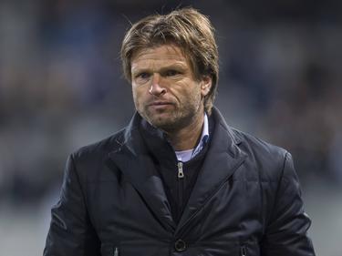 Teleurstelling bij De Graafschap-trainer Jan Vreman tijdens het competitieduel De Graafschap - FC Oss (02-12-2016).