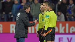 HSV-Trainer Dieter Hecking war nach der Pleite in Osnabrück stinksauer