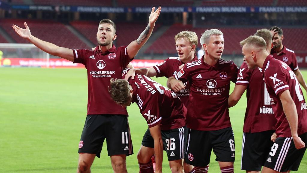 Der 1. FC Nürnberg rückt in der Tabelle der 2. Bundesliga auf Rang zwei vor