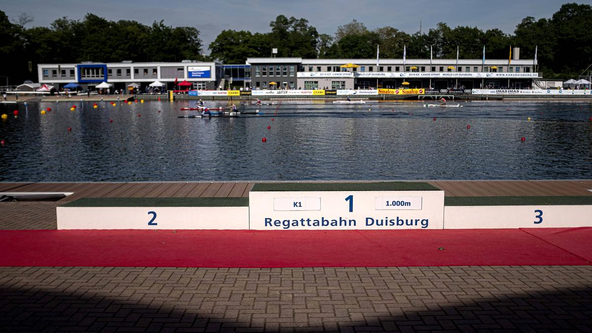 Die Kanu-Regatta auf der Wedau-Bahn wurde abgesagt
