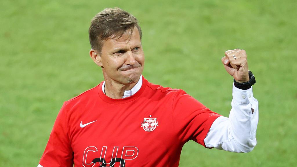 Jesse Marsch gewann mit RB Salzburg nach der Corona-Pause den österreichischen Pokal