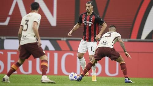 Traf erneut doppelt für AC Milan: Zlatan Ibrahimovic