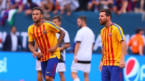 Spielten 2017 noch zusammen beim FC Barcelona: Neymar und Leo Messi