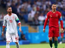 Sergio Ramos y Cristiano en uno de los últimos duelos ibéricos.