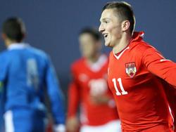 Sinan Bytyqi erzielte gegen Griechenlands U19 einen Doppelpack