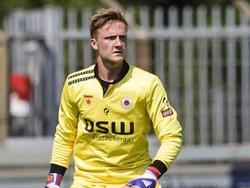 Mike Havekotte onder de lat tijdens het oefenduel tussen FC Oss en Excelsior. (11-07-2015)