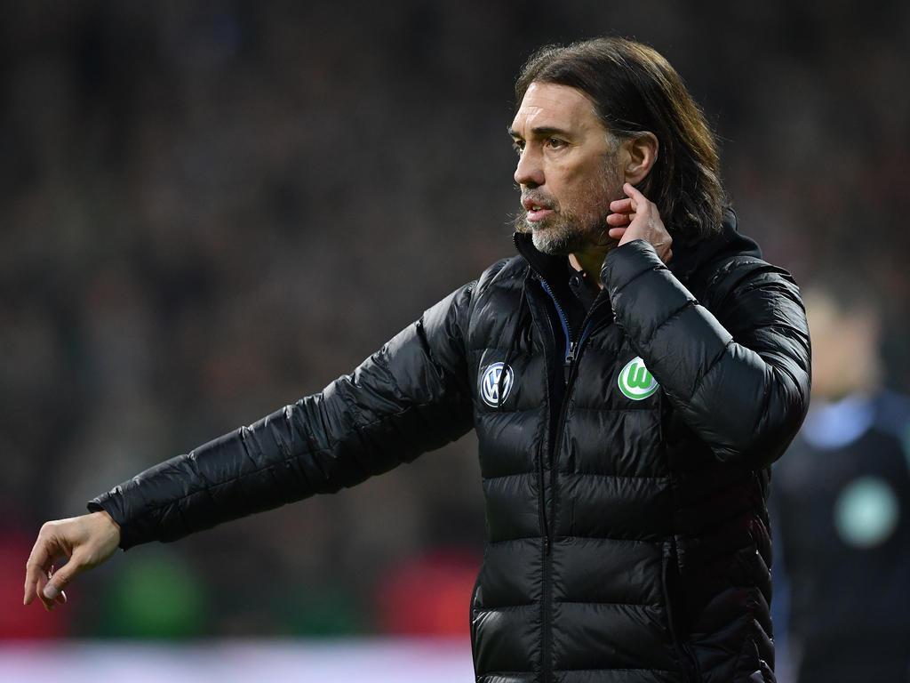 Wolfsburgs Trainer Martin Schmidt verlor mit seinem Team in Bremen