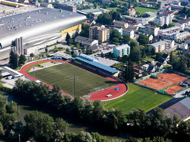 Die Infrastruktur des Sportstadions Gratkorn ist perfekt für die 2. Liga