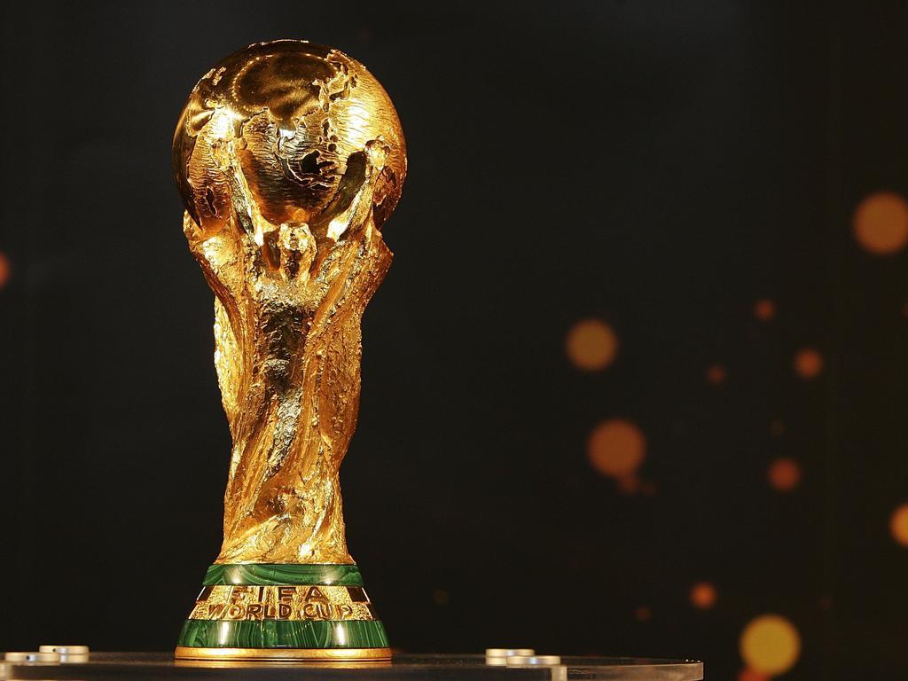 Der WM-Pokal reist standesgemäß