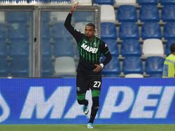 Prince celebra su tercer gol con el Sassuolo en la Serie A. (Foto: Getty)