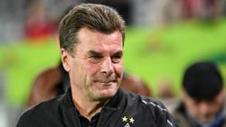 Gladbachs Trainer Dieter Hecking hofft gegen Leverkusen doch noch Alassane Pléa einsetzen zu können