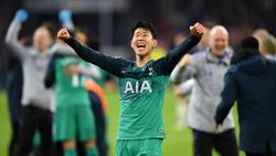 Heung-min Son jubelt über den Finaleinzug