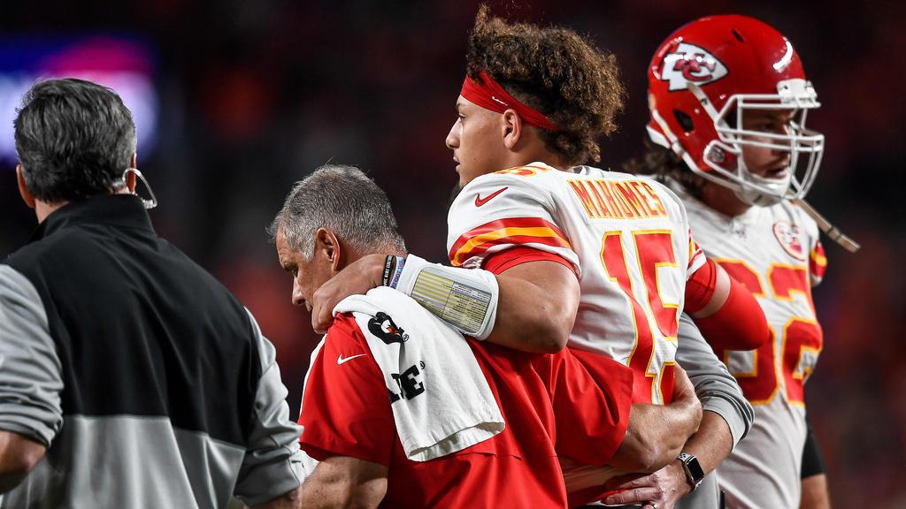 Parick Mahomes wird den Chiefs drei Wochen fehlen