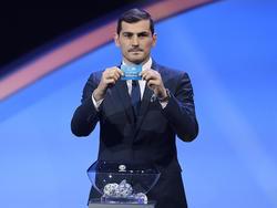 Iker Casillas en el sorteo de la Euro 2020.