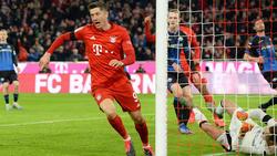 Robert Lewandowski traf doppelt für den FC Bayern