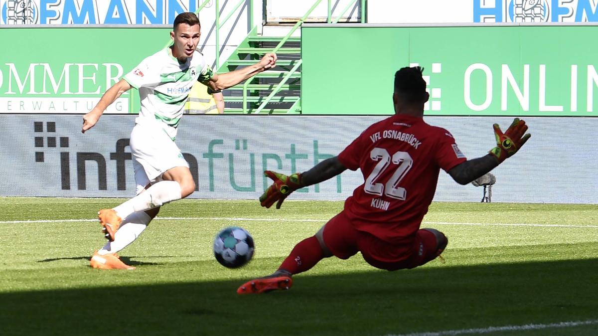 Fürth verpasste den Sieg gegen Osnabrück