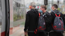 Der 1. FC Köln reist mit dem Zug an