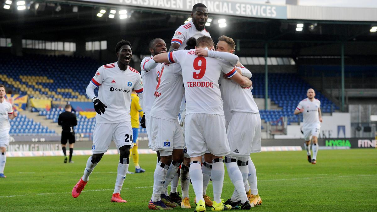 Der HSV hat sich die Hinrunden-Meisterschaft in der 2. Bundesliga gesichert