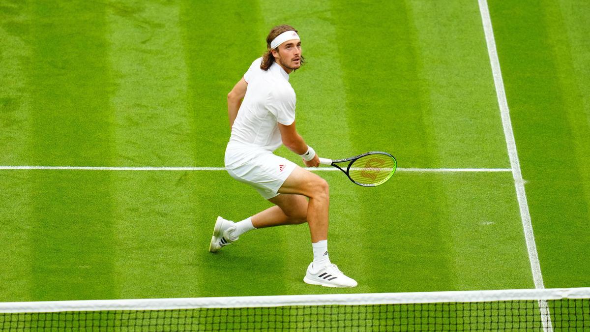 Bereits in der ersten Runde in Wimbledon ausgeschieden: Stefanos Tsitsipas
