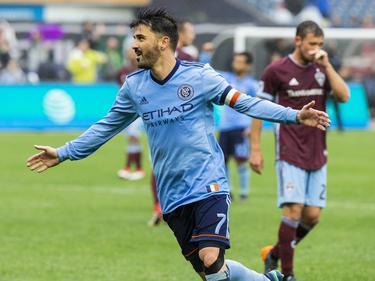 David Villa celebra su diana ante Colorado Rapids. (Foto: Imago)