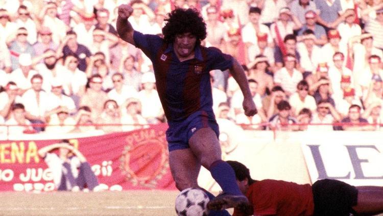 Diego Maradona im Dress des FC Barcelona