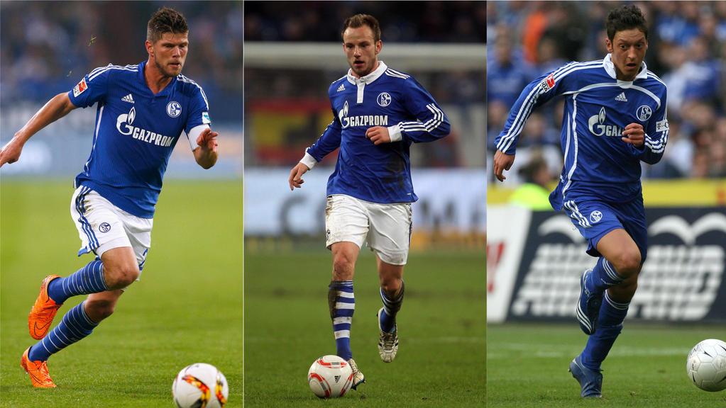Klaas-Jan Huntelaar, Ivan Rakitic und Mesut Özil spielen längst nicht mehr für Schalke 04