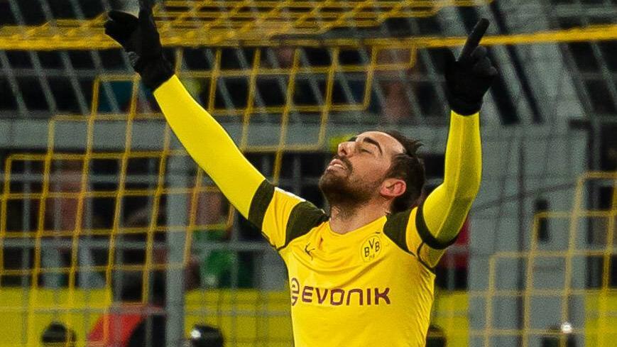 Paco Alcácer abrió el marcador en Dortmund. (Foto: Getty)