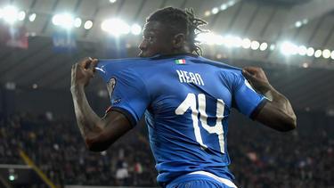 Moise Kean quiere convertirse en una de las estrellas de la nueva Italia.