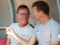 Jesse Marsch (r.) mit seinem Förderer Ralf Rangnick