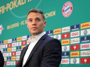 Neuer en la rueda de prensa ofrecida hoy para la final. (Foto: Getty)