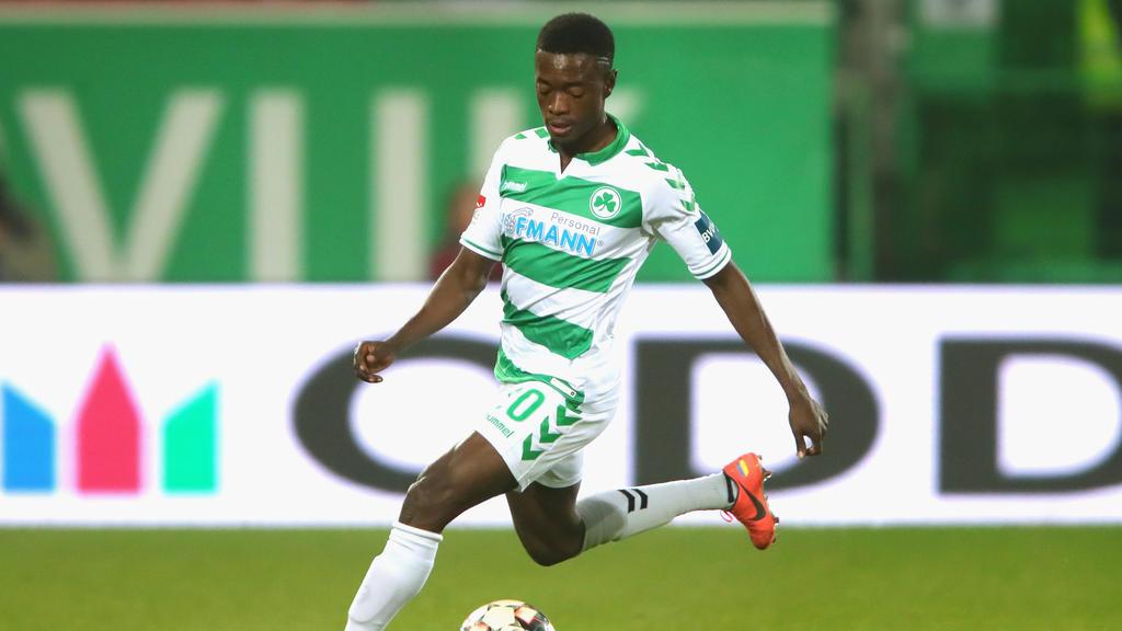 David Atanga war letzte Saison an Greuther Fürth ausgeliehen