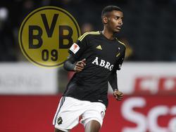 Alexander Isak firma con el Dortmund. (Foto: Getty)