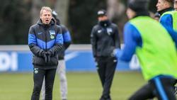 Gewährt nur noch 20 Minuten Einblicke beim Hertha-Training:Coach Jürgen Klinsmann