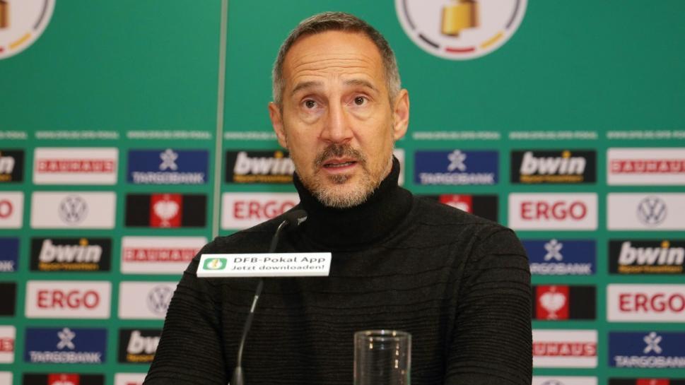 Will mit Frankfurt ins Halbfinale: Trainer Adi Hütter
