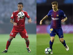 Thiago könnte zum FC Barcelona zurückkehren, Digne (re.) dafür zum FC Bayern wechseln