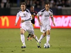 DavidBeckham(l.)undLandonDonovan (LA Galaxy)