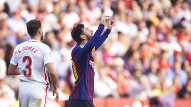 Lionel Messi erzielte einen Dreierpack gegen Sevilla
