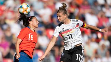 Alexandra Popp brachte die DFB-Elf mit 1:0 in Führung
