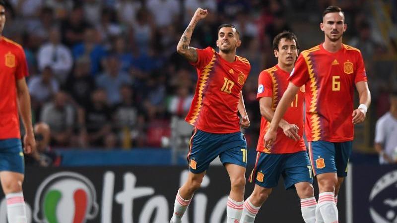 Spaniens U21-Nationalmannschaft hat bei der EM als erstes Team das Halbfinale erreicht