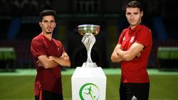 Portugal y España quieren levantar la Eurocopa.